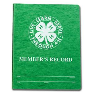 Cover photo for 4-H Project Record Book Time!