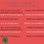 4-H Day Camp poster