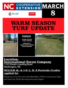 Cover photo for 2018 Warm Season Turf Update