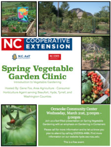 Cover photo for Sign-Up Now for the Spring Vegetable Garden Clinic on Ocracoke Island