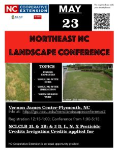 Cover photo for 2018 Northeast NC Landscape Conference - May 23