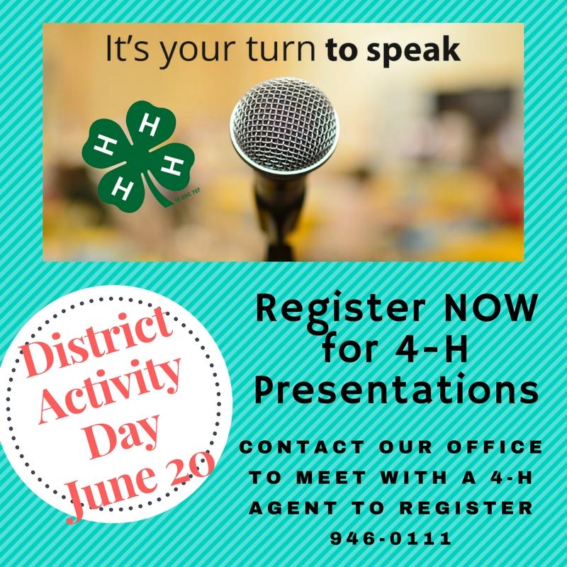 4-H Presentation Time flyer