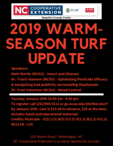 2019 Warm-Season Turf update poster