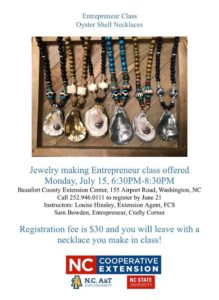 Cover photo for Entrepreneur Class - Make Your Own Oyster Shell Necklace!