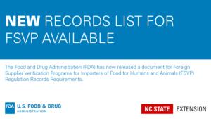 blue and white announcement of a new FDA checklist