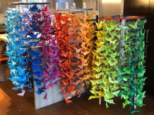 2,000 butterflies made by students at Live Oak School in San Francisco, CA