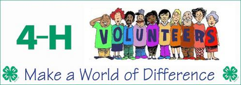 4-H Volunteers Make a World of a Difference banner