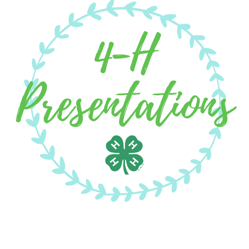 4-H Presentations logo with 4-H clover