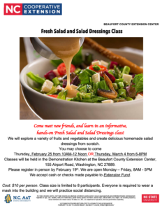 Cover photo for Salad and Salad Dressings Class