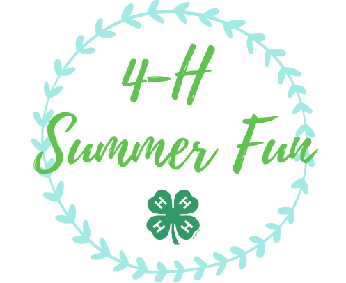 4-H Summer Fun with a 4-H clover