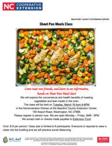Cover photo for Sheet Pan Meals Class