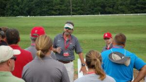 Yelverton talking at field day